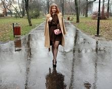 Brązowa błyszcząca sukienka od SecretGar z 23 stycznia - najlepsze stylizacje i ciuszki