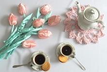 Tulipany satynowe HANDMADE