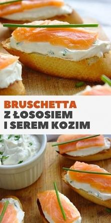Bruschetta z łososiem wędzo...