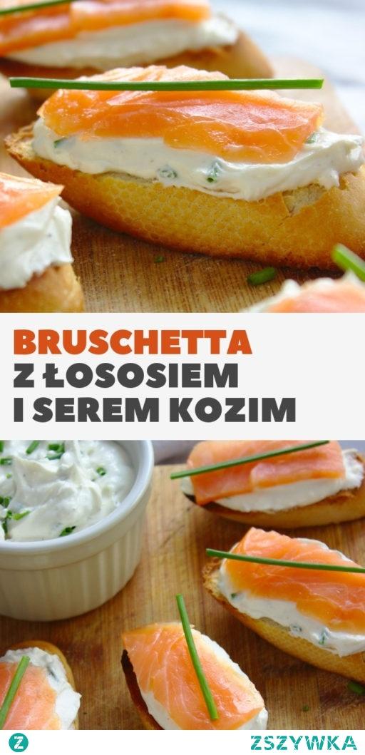 Bruschetta z łososiem wędzonym i serem kozim. Szybka i łatwa przekąska w 15 minut!
