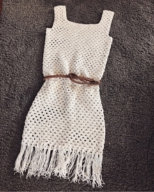 crochet boho dress
