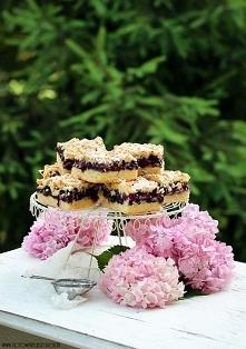 Kruche ciasto z jagodami i mascarpone