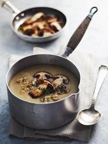 Zupa krem z kartofli z borowikami