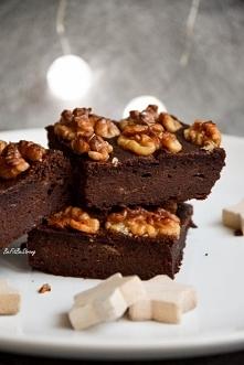 Owsiane brownie z orzechami włoskimi FIT.