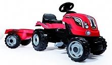 Smoby Traktor Z Przyczepą Farmer Xl, Czerwony