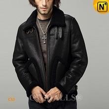 Men Winter Jackets | CWMALLS® Boston Custom Sheepskin Biker Jacket CW807641 [Extremely Cold Weather]