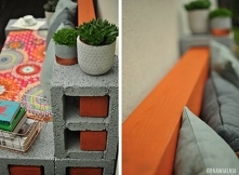 Ławka ogrodowa DIY z pustaków wentylacyjnych