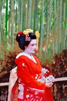 Portret maiko, na którą natknęłam się w bambusowym lesie Arashiyama. Drugi ry...