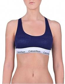 Calvin Klein Bez Podszewki Bralette Shilo Sport Bra Blue qf4638e-xs6 (Rozmiar S)