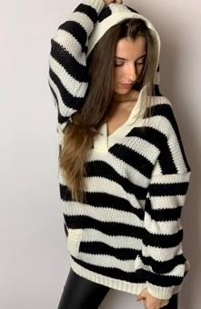 Sue Rosa sweter czarny-ecru...