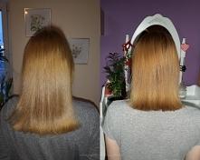 Po lewej włosy teraz, po pr...