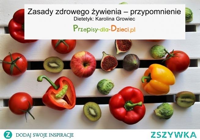 Zasady zdrowego żywienia - przypomnienie.Link do artykułu poniżej.
