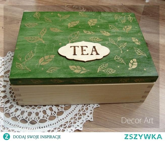 herbaciarka w złote listki :)