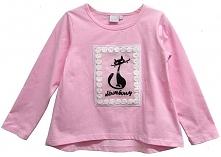 Topo Koszulka Dziewczęca Z Kotkiem 92 Różowa
