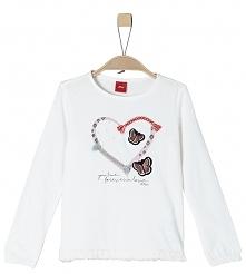 S.Oliver T-Shirt Dziewczęcy 104 - 110 Biały