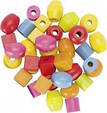 Zestaw drewnianych kulek do nawlekania dla dzieci, biżuteria dla dzieci, Meto...