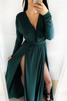Piękna długa sukienka w kol...