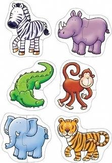 Dżungla - Puzzle dla dzieci uniw