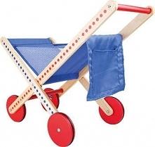 Wózek sklepowy drewniany na zakupy  - dla dzieci, zabawki montessori uniw