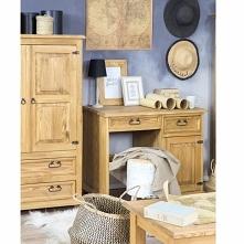 idealne biurko dla naszych pociech  drewniane biurko   woskowane