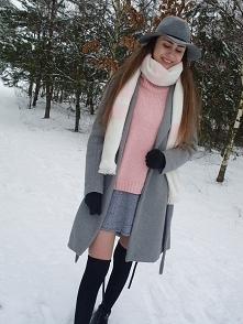 moja propozycja zimowej stylizacji z zakolanówkami :)