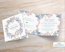 Zaproszenia ślubne - Pastelowy wianek Zapraszamy do zapoznania się z innymi p...