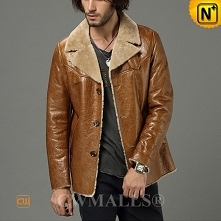 Men Winter Coats | CWMALLS® Seattle Custom Sheepskin Leather Jacket CW807125 [Valentine's Day Gifts]