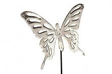 Motyl z lustrzanej blachy nierdzewnej do utknięcia w donicę