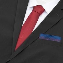 Krawat i poszetka - Czerwony