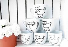 6 kubków z kotami
