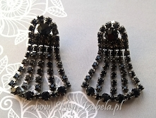 kolczyki czarne damskie do sukienki wieczorowej