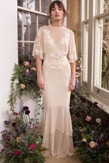 Sukienka na ślub, kremowa s...