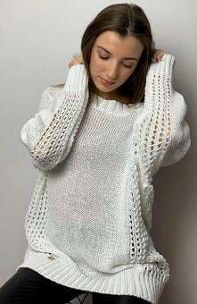 Sue Miley sweter biały Prze...
