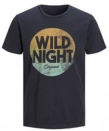 Jack&Jones T-Shirt Męski Zap Tee Ss Crew Neck Total Eclipse Slim (Rozmiar S)