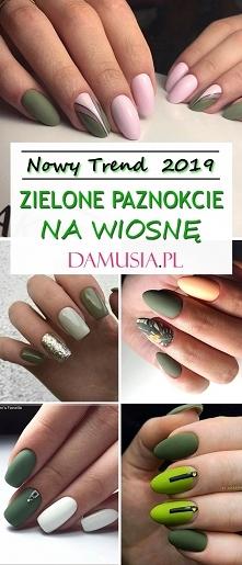 Zielone Paznokcie na TOPIE! Nowy Trend na Wiosnę 2019! – Najlepsze Inspiracje!