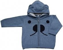 EKO Chłopięcy Sweter Z Noskiem, 104, Niebieski