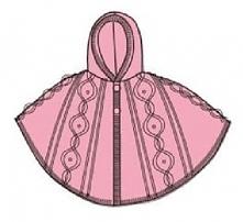 Carodel Ponczo Dziewczęce 110 Różowe