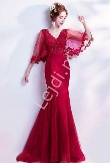 Czerwona sukienka wieczorow...