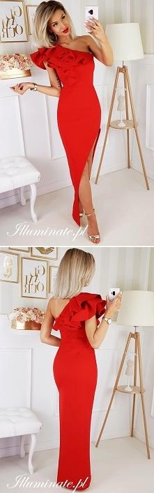 NOWOŚĆ! Czerwona sukienka z...