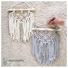 makrama, sznurek bawelniany, dekoracje do domu, inspiracje, Instagram