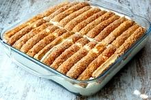 Ciasto francuskie z kremem. Na zimno .Bez pieczenia.