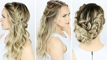 Fryzury i upięcia - włosy długie i półdługie   #hairstyle #hairstyles #włosy ...