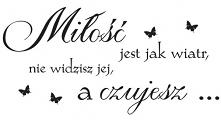 Milosc jest jak wiatr, nie ...