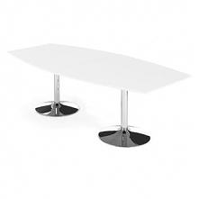 Stół Konferencyjny Avery 2400X1200 Mm Biały Chrom