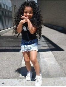 girl, style, black, hair, cute