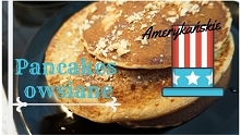 Pancakes owsiane-miód i orzechy.  Link do przepisu w komentarzu