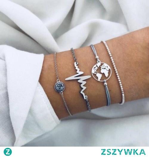 Zestaw czterech bransoletek do kupienia na silvona.pl. Kliknij w zdjęcie, aby przejść do sklepu.