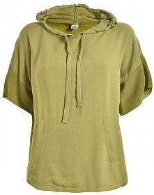 Deha Ladies T-Shirt Z Kapturem Słodki d73440 Złoty Olive (Rozmiar L)