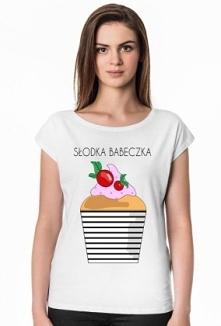 Stylowy T-shirt z zabawnym printem, dla każdej słodkiej kobietki :)