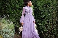 Szyfonowa sukienka maxi lac...